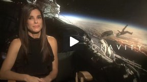 "My Fun Sandra Bullock Interview for ""GRAVITY!""  See How George Clooney Helped Shape the Movie!"
