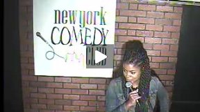 Comedian Janelle Jones performs live at the New York Comedy Club