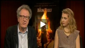 """The Book Thief"" Interview with Geoffrey Rush and Sophie Nélisse"