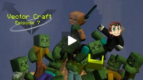 Minecraft Let's Play - Vector, Ep 7 - Up, Up and Away