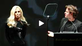 2013 British Fashion Awards - Christopher Kane Accepts the Award for Womenswear Designer of the Year