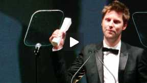 2013 British Fashion Awards - Christopher Bailey Accepts the Award for Menswear Designer of the Year