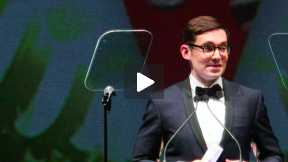 2013 British Fashion Awards - ERDEM Accepts the Award Redcarpet Designer of the Year