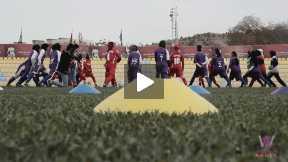 Training of Esteqlal Female football team and Afghan Club team