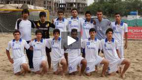 Second round of Beach football tournament, Esteqlal VS Jawanane Char Dehi