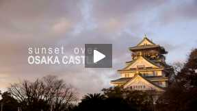 POSTCARDS OF JAPAN - SUNSET OVER OSAKA CASTLE