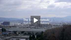 POSTCARDS OF JAPAN - THE SKY OF TAKATSUKI FROM ISHIZAKI´S BALCONY