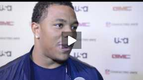 Baltimore Raven Ray Rice Speaks with Pblcty