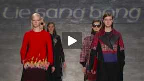 THE LIE SANG BONG MERCEDES-BENZ FASHION WEEK NYC AUTUMN/WINTER 2014 FASHION SHOW #MBFW A/W14