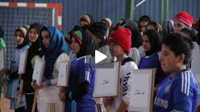 نخستین دور مسابقات فوتسال بانوان در افغانستان