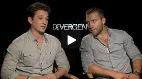 """Divergent"" Interviews with Miles Teller and Jai Courtney!"