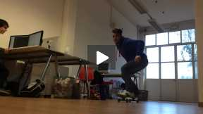 Skate jump in a office!