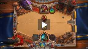 Hearthstone Shaman vs rogue casual game.