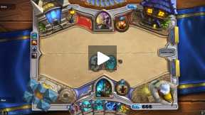 Hearthstone shaman vs priest casual game.