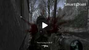 Computer Game Call of Duty 4 ( Mission All Ghillied Up Part 1)