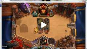 Hunter Vs. Warrior Gameplay - HeartStone