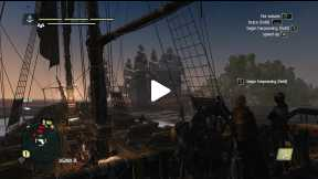 Assassin's Creed IV - Black Flag chasing a rich cargo ship