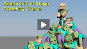 Minecraft-Maya-Tutorial  How to Build Your Character, Ep 1-Modeling
