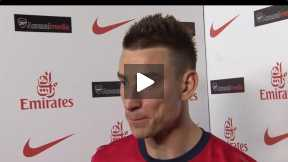 Koscielny's reaction after Newcastle game