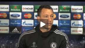 Terry before the Atletico Match