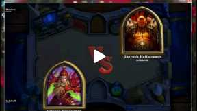 Warrior Vs. Rouge Gameplay Match - Heartstone