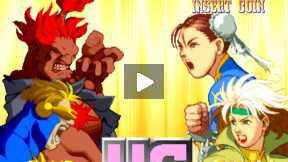X-MAN Vs STREET FIGHTER GAME-FIGHT 2