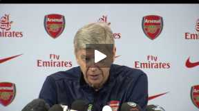 Wenger Press Conference before west brom