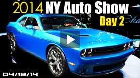 NEW Dodge Challenger, Corvette Z06 Convertible, Land Rover Vision, 2014 NY Auto Show