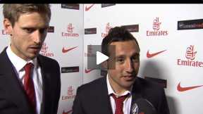 Cazorla and Monreal after West Brom game