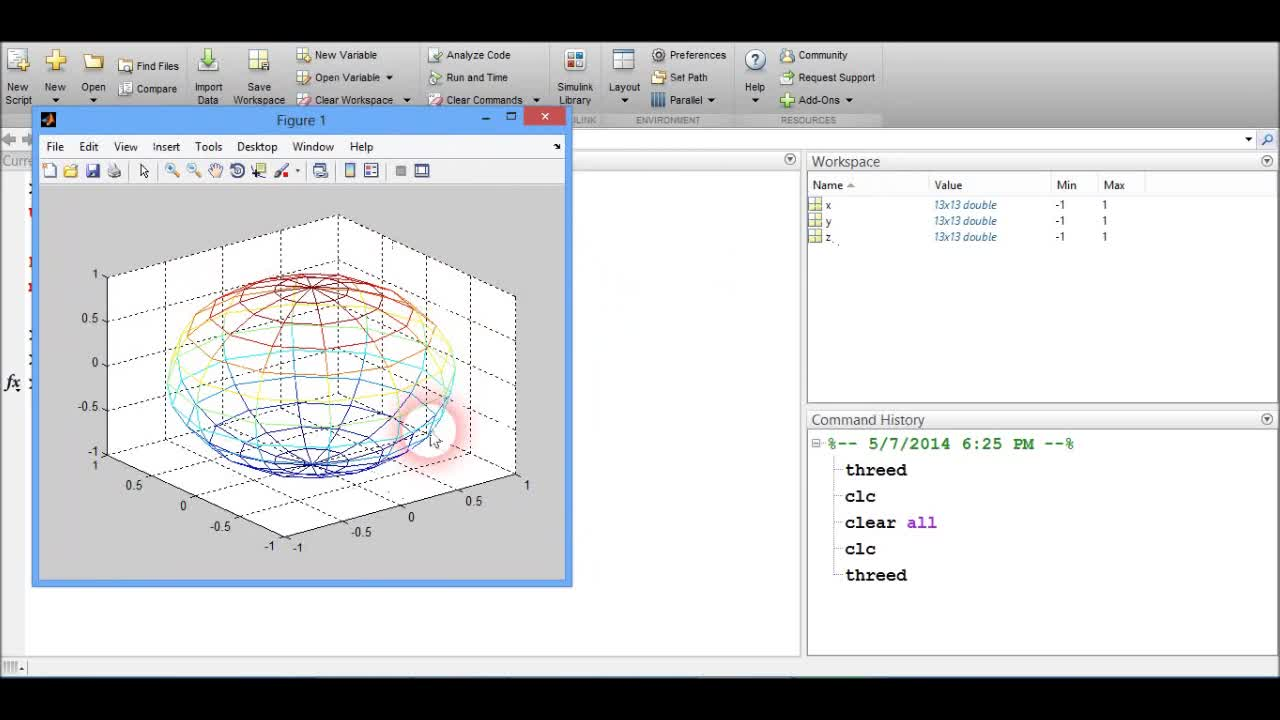 Plotting a sphere in Matlab (Transparent) by SalmaAnnex | Education