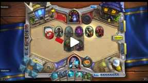 Playing Hearthstone Mage vs Warlock