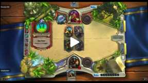Playing Hearthstone Hunter VS Rouge