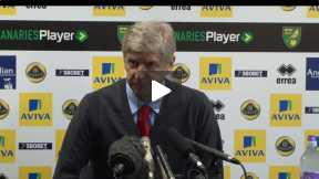Wenger press conference after Norwich