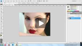 Brightness/contrast adjustment of image in photoshop