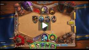 Playing Hearthstone Mage VS Priest