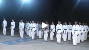 karate performance by CCKK Students