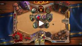 Hearthstone Arena match Paladin vs warrior