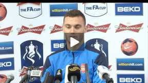 Thomas attends press conference before the Wembley