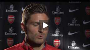 Exclusive: Olivier Giroud befor the FA Cup
