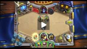 Playing Hearthstone Arena match Paladin vs Warlock