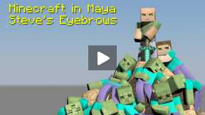 Minecraft - Maya - Tutorial - How to Build Your Character, Ep 8, Eyebrow Control