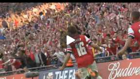 Montage: the FA Cup Final win