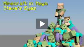 Minecraft - Maya - Tutorial - How to Build Your Character, Ep 9, The Eyes
