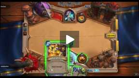 Playing Hearthstone Priest vs Mage