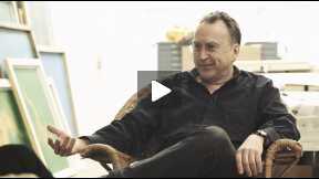 Artist Steve Miller interview at his studio in Southampton, New York