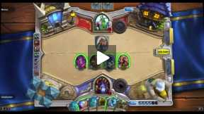 Playing Hearthstone Normal match Warlock Vs Druid