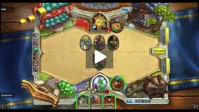 Playing Hearthstone Driud Vs Mage Normal match