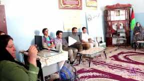 Afghan Football Team's Leaders Visiting Computer Classroom of Mahjooba Herawi High School