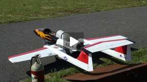 Jet Boomerang, flight in Ghisalba(Bergamo, Italy) 2014-05-15