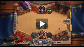 Playing Hearthstone Rouge Vs Warlock normal match
